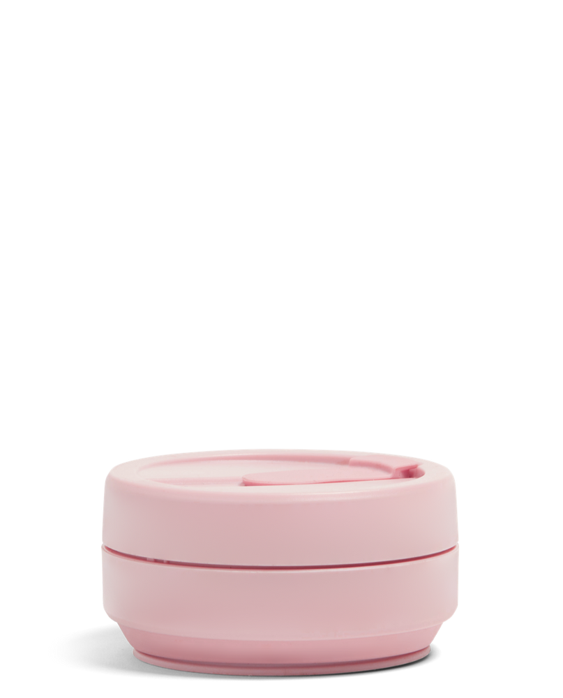 Load image into Gallery viewer, 12 oz Carnation Soft Pink Collapsible Coffee Cup