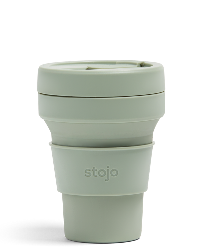 12oz Sage Green Collapsible Coffee Cup