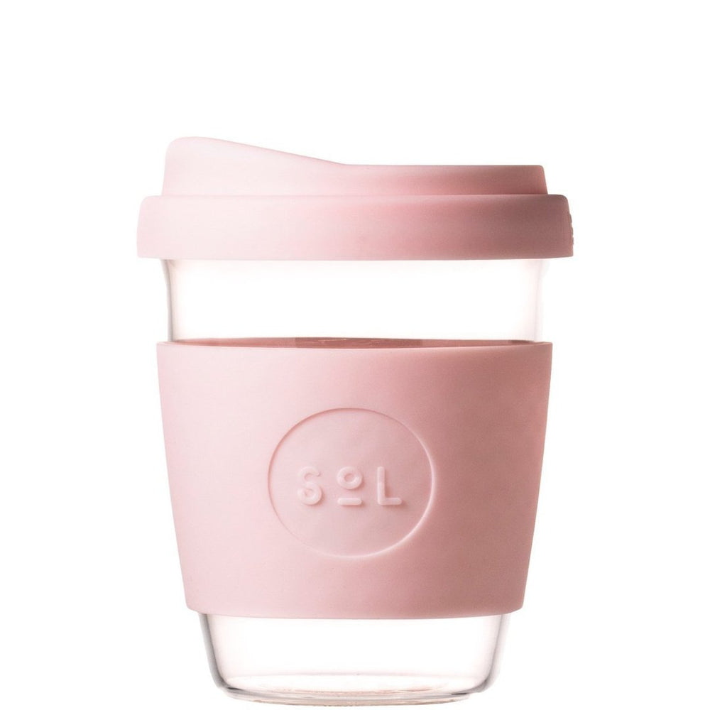 12oz Perfect Pink Glass Coffee Cup