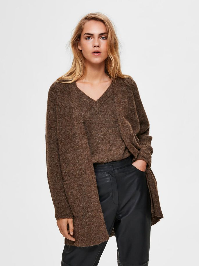 Load image into Gallery viewer, SLFLULU Dachshund Brown Cardigan