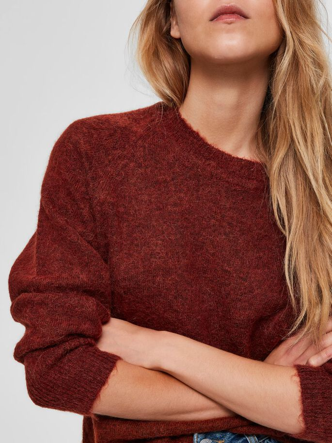 Load image into Gallery viewer, SLFLULU Smoked Paprika Red Jumper