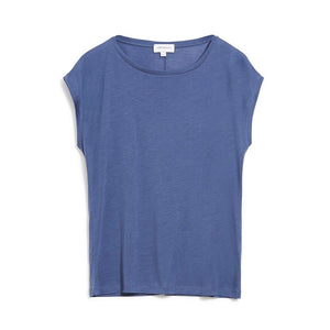Load image into Gallery viewer, JILAA Blue Indigo Organic Cotton T-Shirt