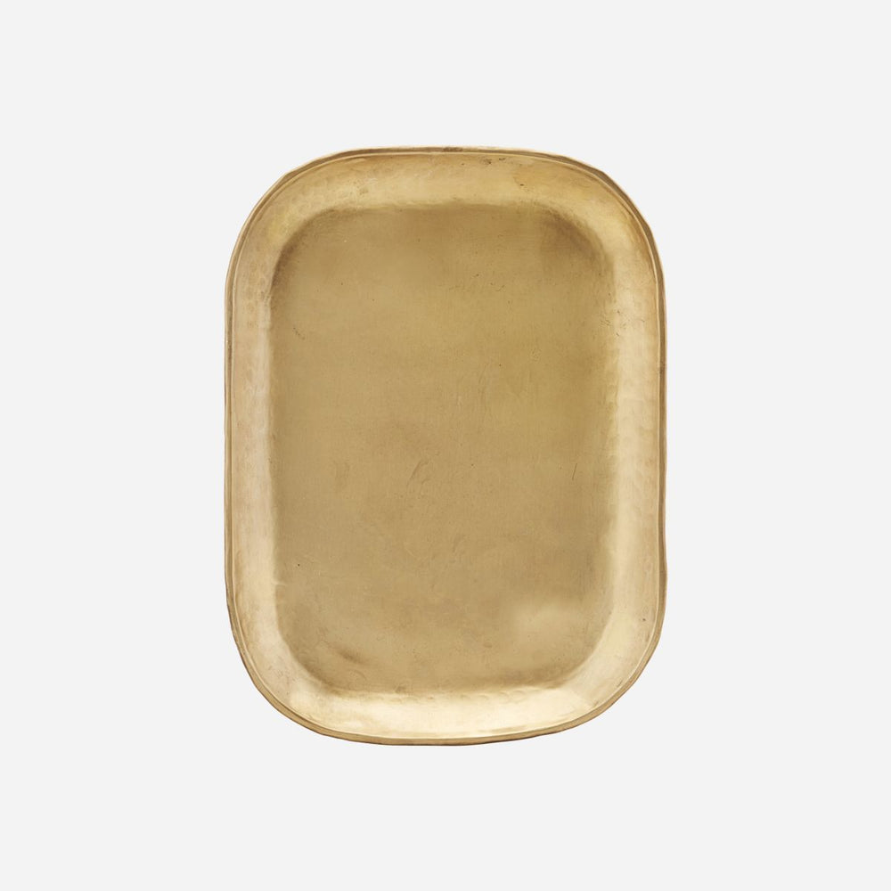 Load image into Gallery viewer, 26.5 x 19.5cm Golden Brass Rich Tray