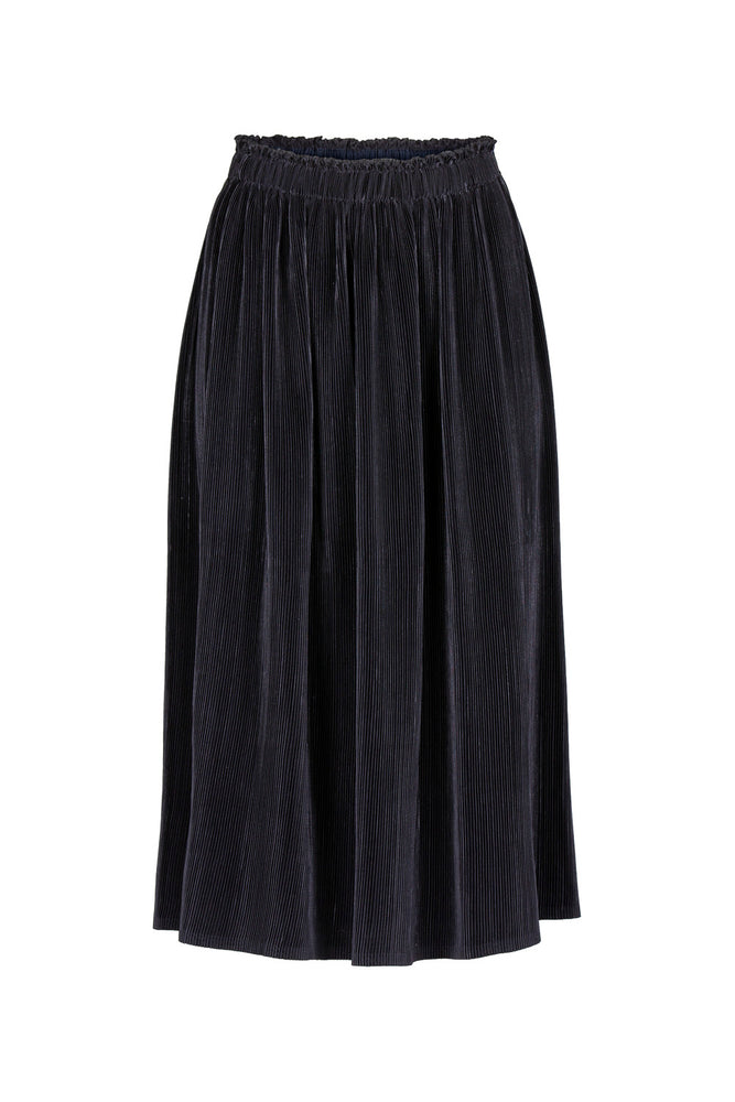 Suus Plisse Skirt, Midnight Blue