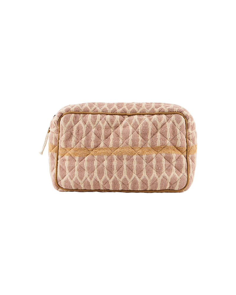 Toiletry bag, Mustard/Terracotta/Sand