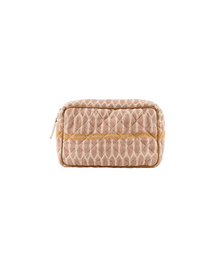 Load image into Gallery viewer, Makeup bag, Mustard/Terracotta/Sand