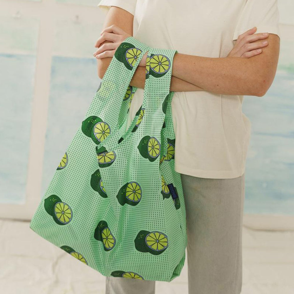 Load image into Gallery viewer, Green Lime Reusable Tote Bag