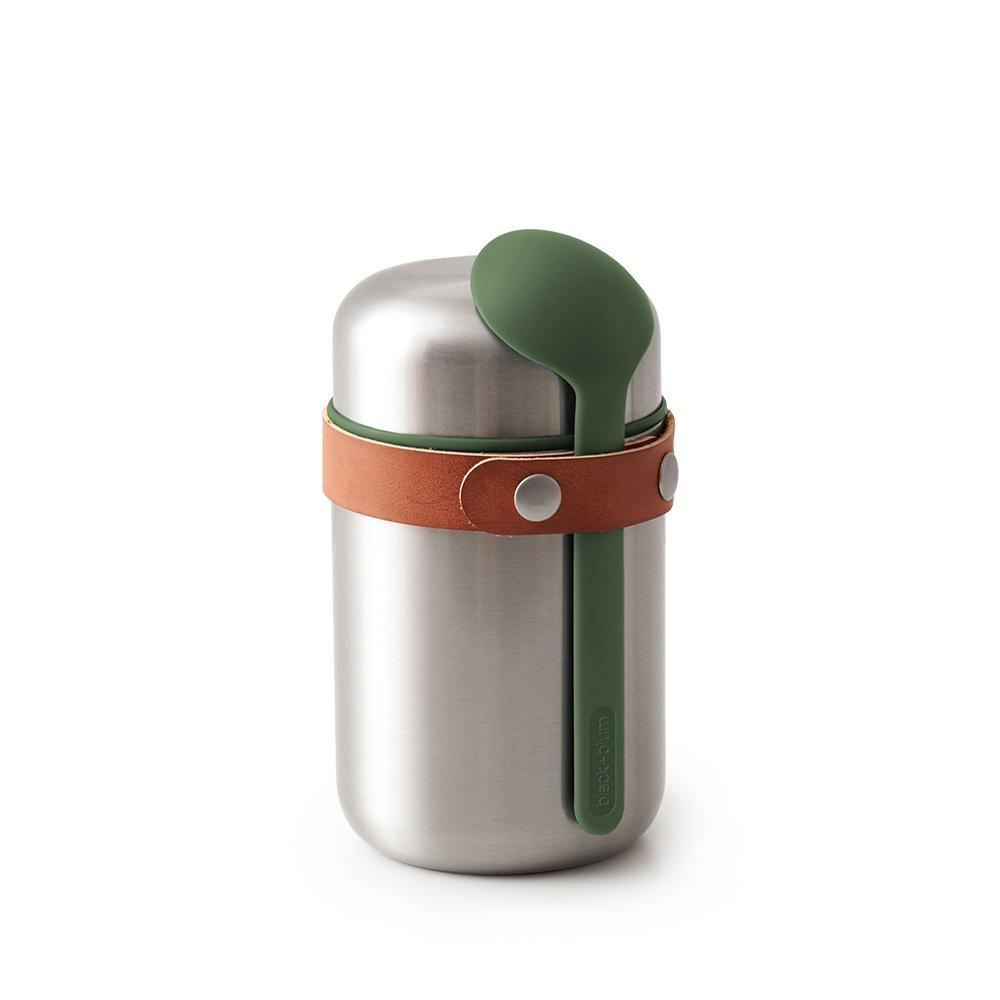 Steel Food Flask with Olive Spoon