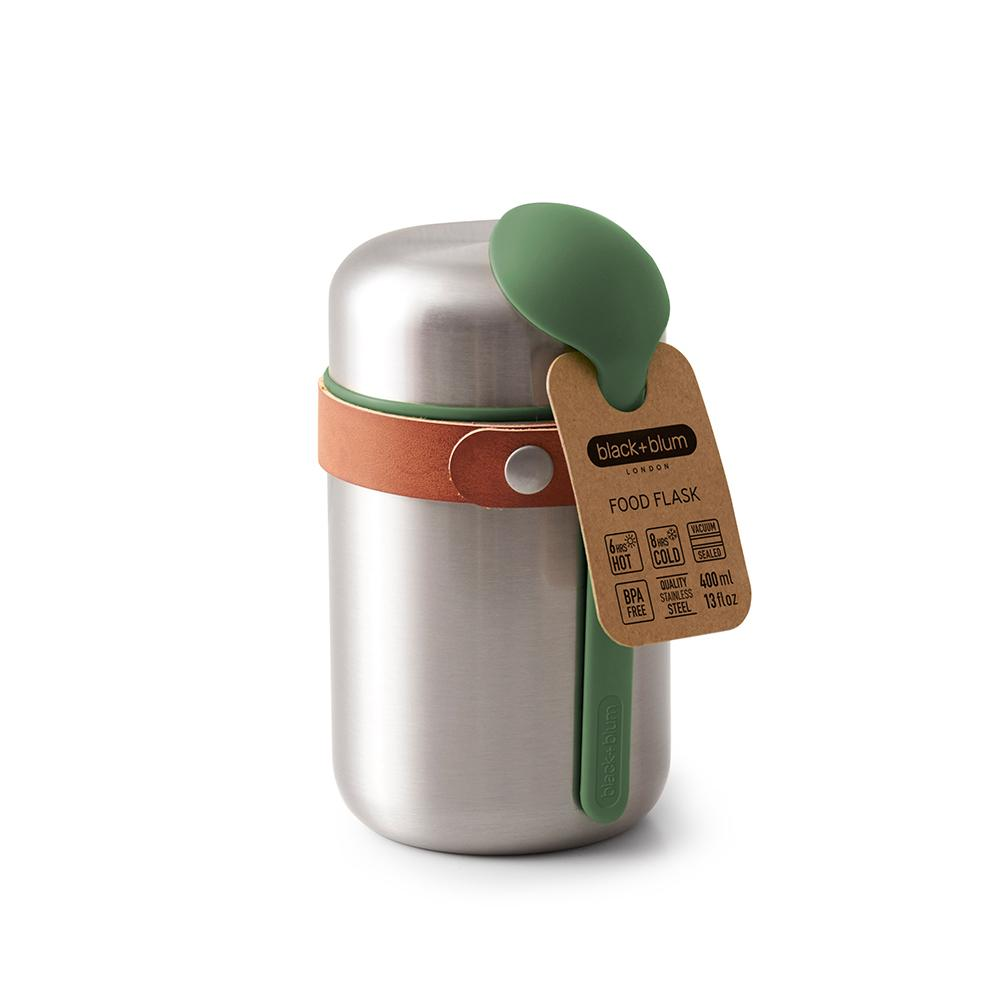 Load image into Gallery viewer, Steel Food Flask with Olive Spoon