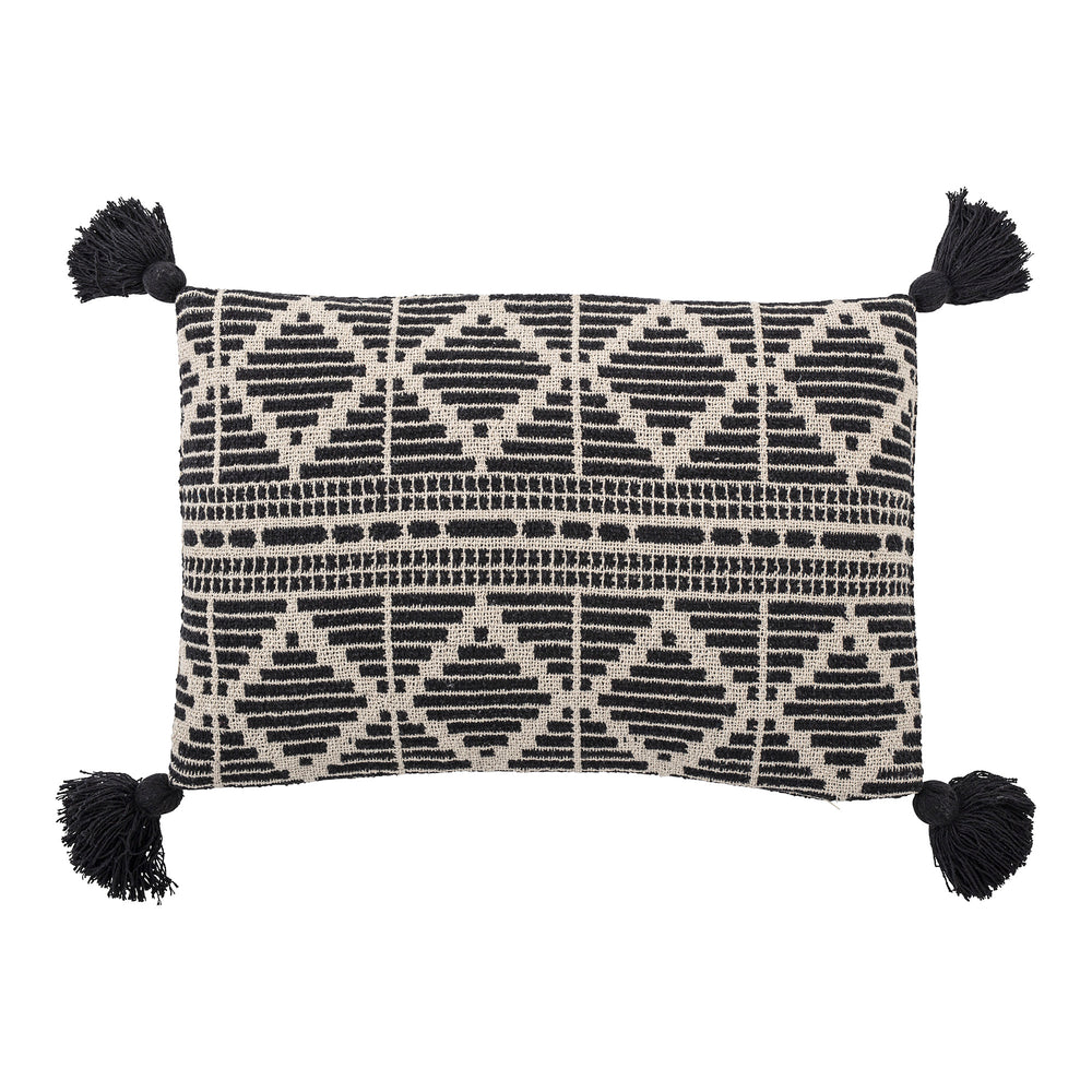 Cushion recycled cotton, black