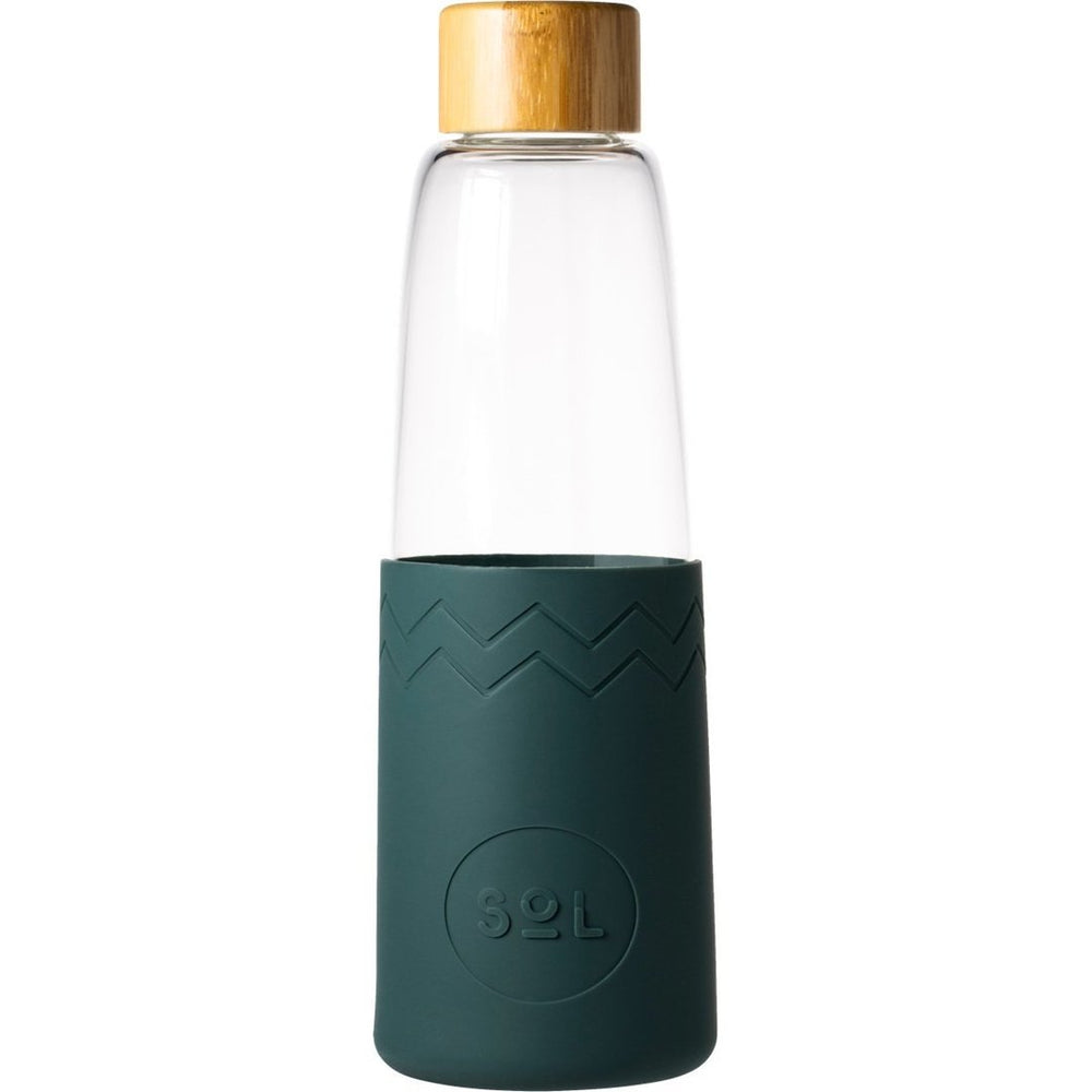 850ml Glass Bottle with Deep Sea Green Silicon Sleeve