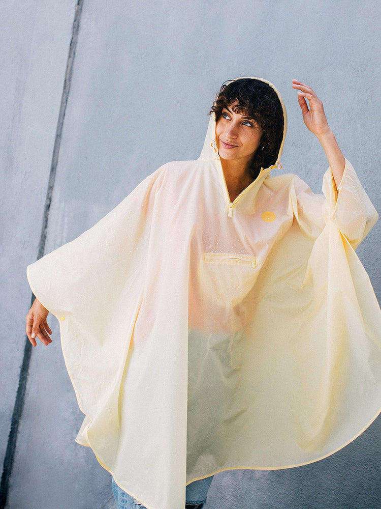 Load image into Gallery viewer, Smile in the Rain, Yellow, Poncho