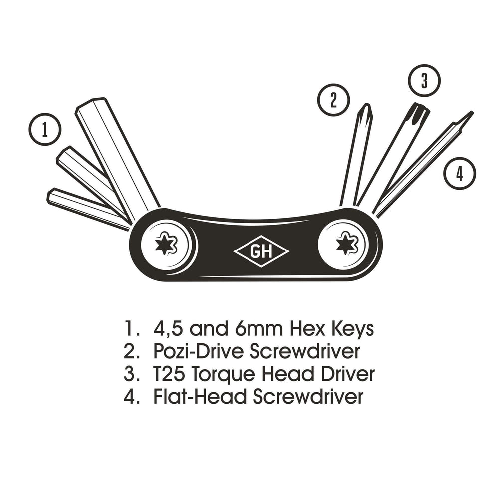 Load image into Gallery viewer, Gentlemen's Hardware Titanium Pocket Bicycle Multi-Tool
