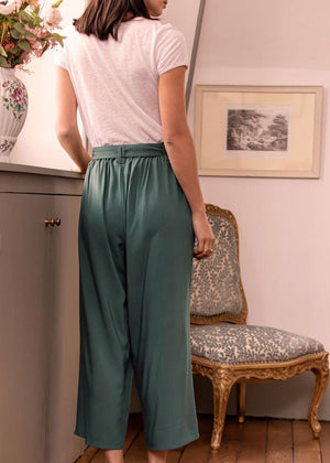 Load image into Gallery viewer, SANDRO Roche Green Trousers