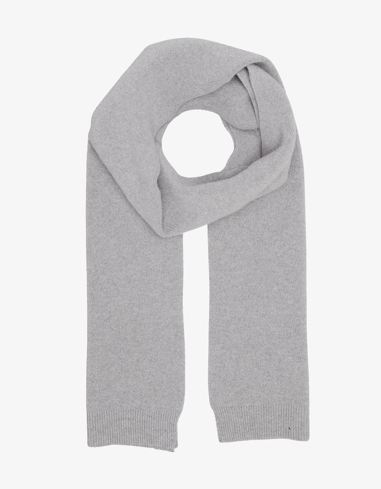Heather Gray Merino Wool Scarf