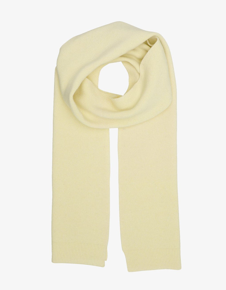 Merino Wool Scarf, Soft Yellow