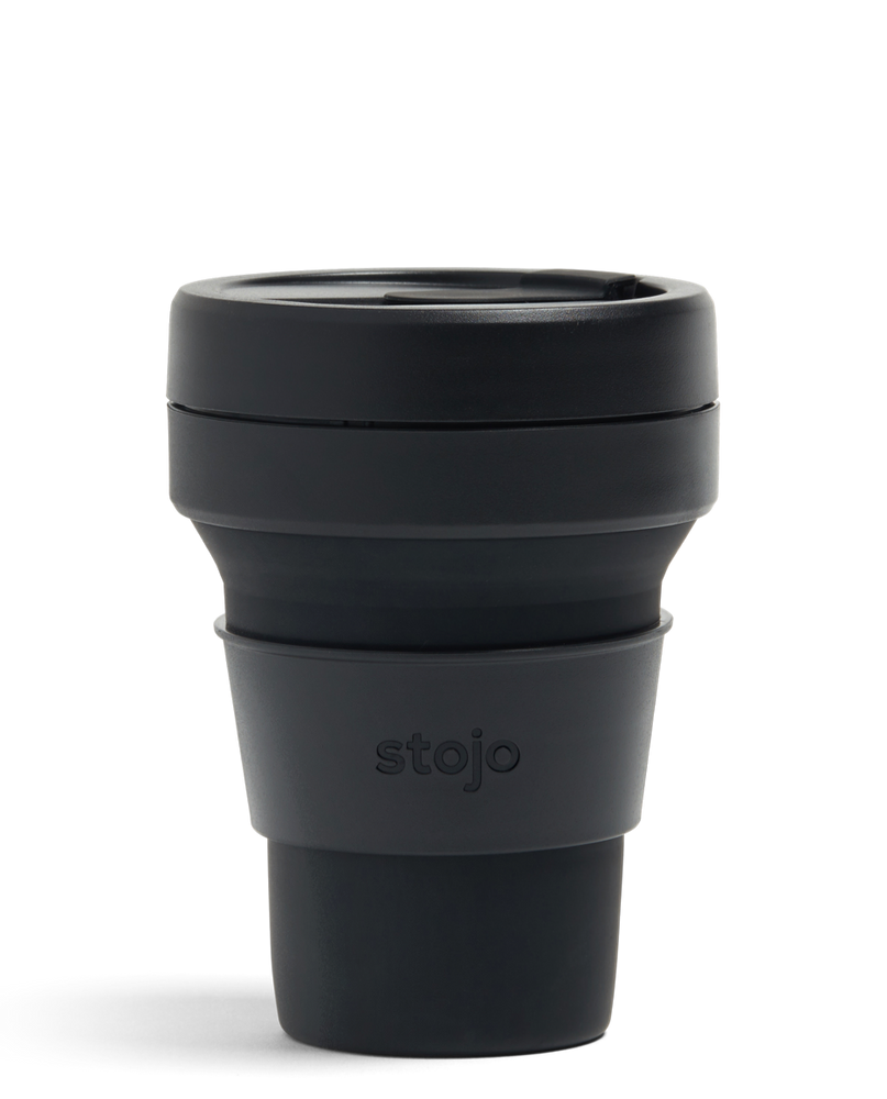 12 oz Black Ink Collapsible Coffee Cup
