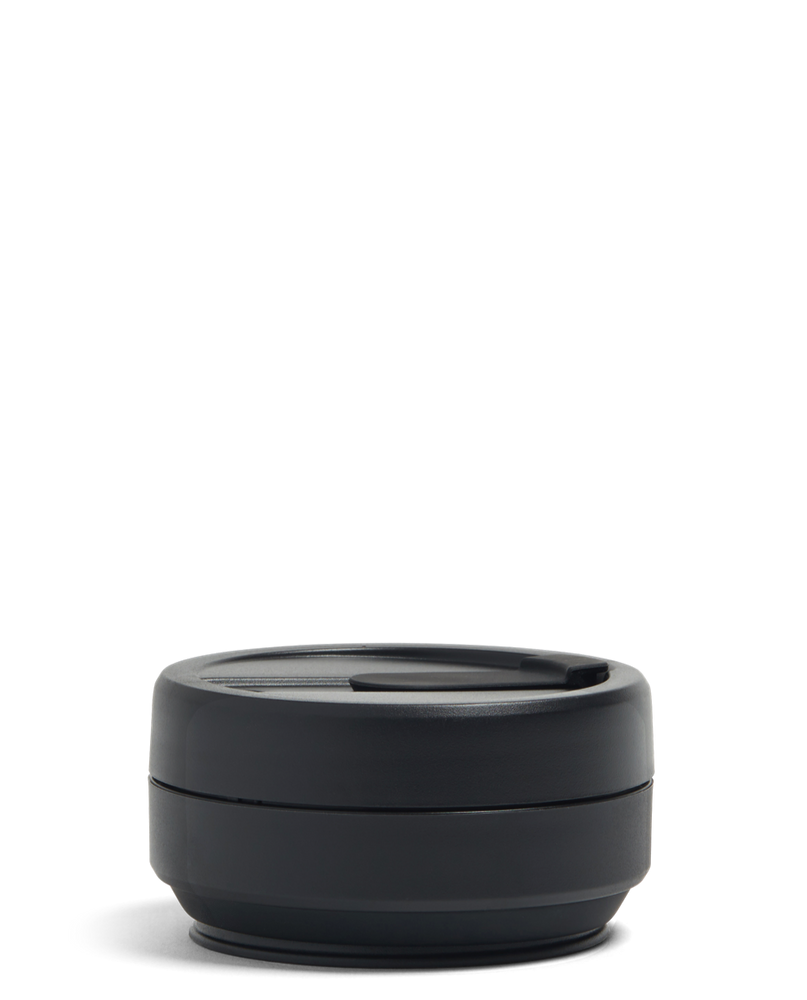 Load image into Gallery viewer, 12 oz Black Ink Collapsible Coffee Cup