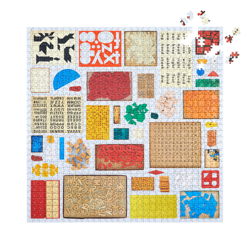 Several Found Things (Numbers, Letter, Shapes) Puzzle 1000 Pieces