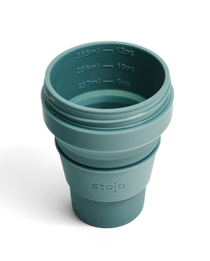 Load image into Gallery viewer, 12oz Eucalyptus Collapsible Coffee Cup