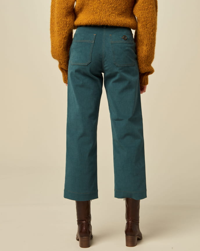Load image into Gallery viewer, Joan A-line Trousers, Malachite