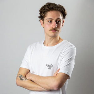 Load image into Gallery viewer, Short Sleeve Unisex White T-shirt - Hamburg I