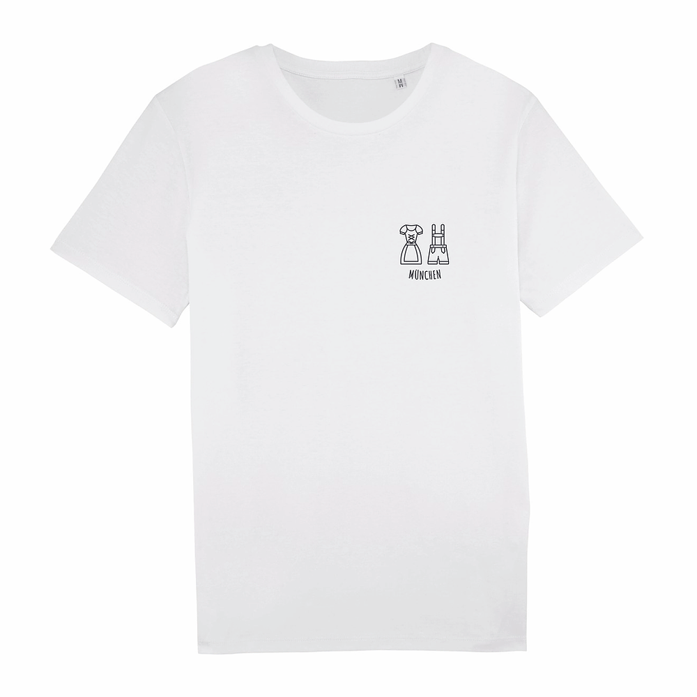 Load image into Gallery viewer, Short Sleeve Unisex White T-shirt - München II