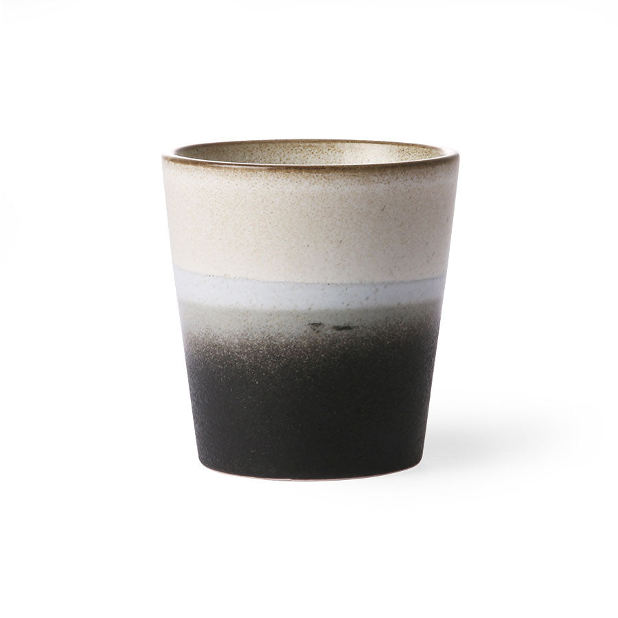 70s ceramics: coffee mug, rock
