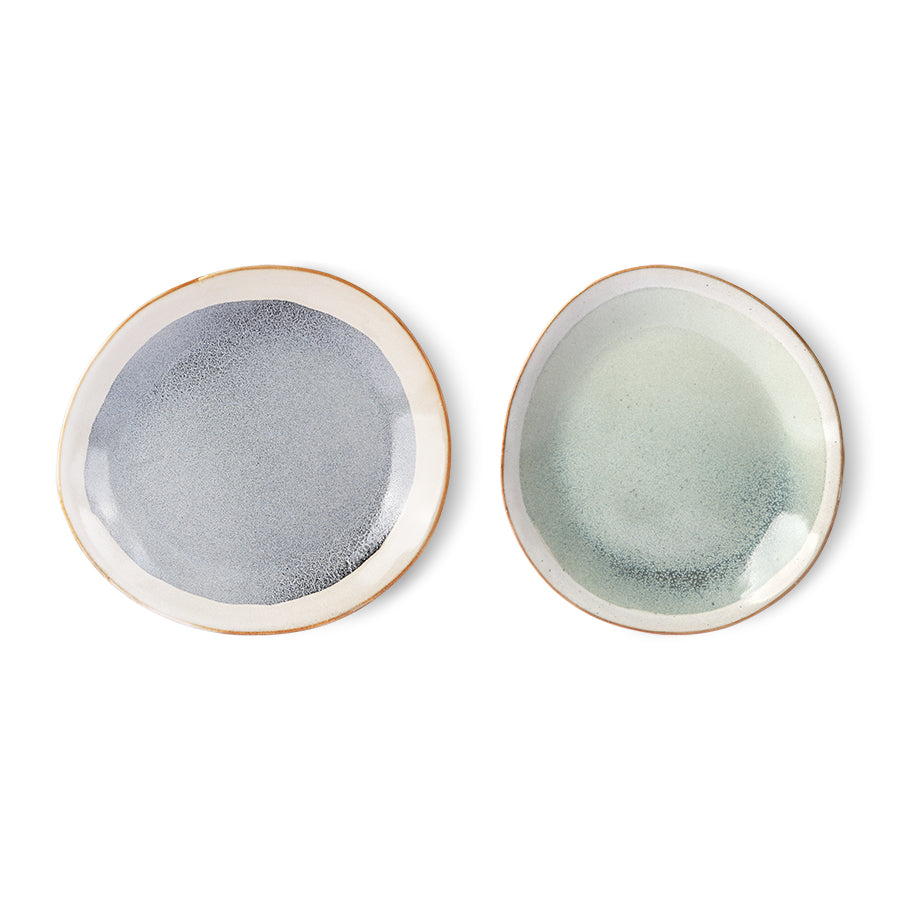 Load image into Gallery viewer, 70s ceramics: side plate, mist