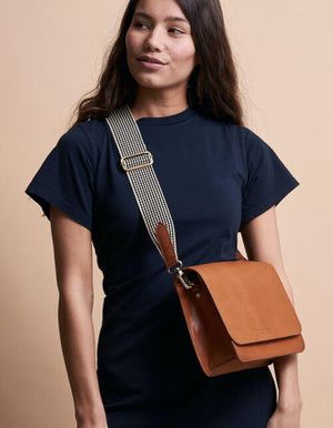 Load image into Gallery viewer, Audrey Mini Cross-body Bag, Cognac