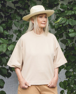 Load image into Gallery viewer, BOBBIE Sand Organic Cotton Top