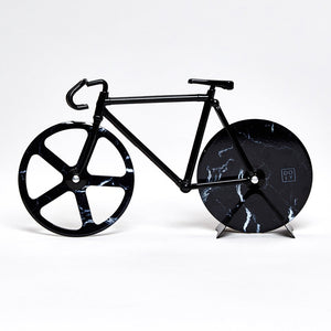 Load image into Gallery viewer, The Fixie Black Marble Bike Pizza Cutter