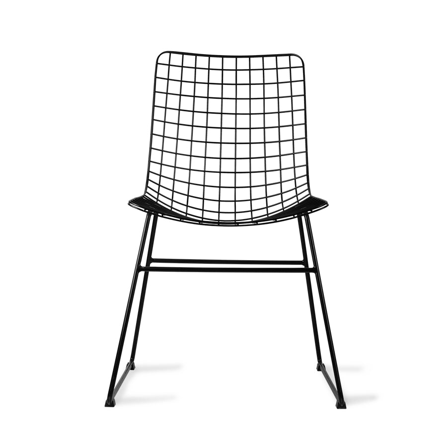 Load image into Gallery viewer, Metal wire chair, black
