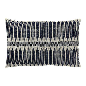 Load image into Gallery viewer, Black & White Aztec Weave Cushion