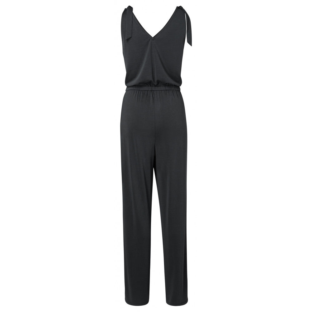 Load image into Gallery viewer, Modal Blend Sleeveless Jumpsuit, Almost Black