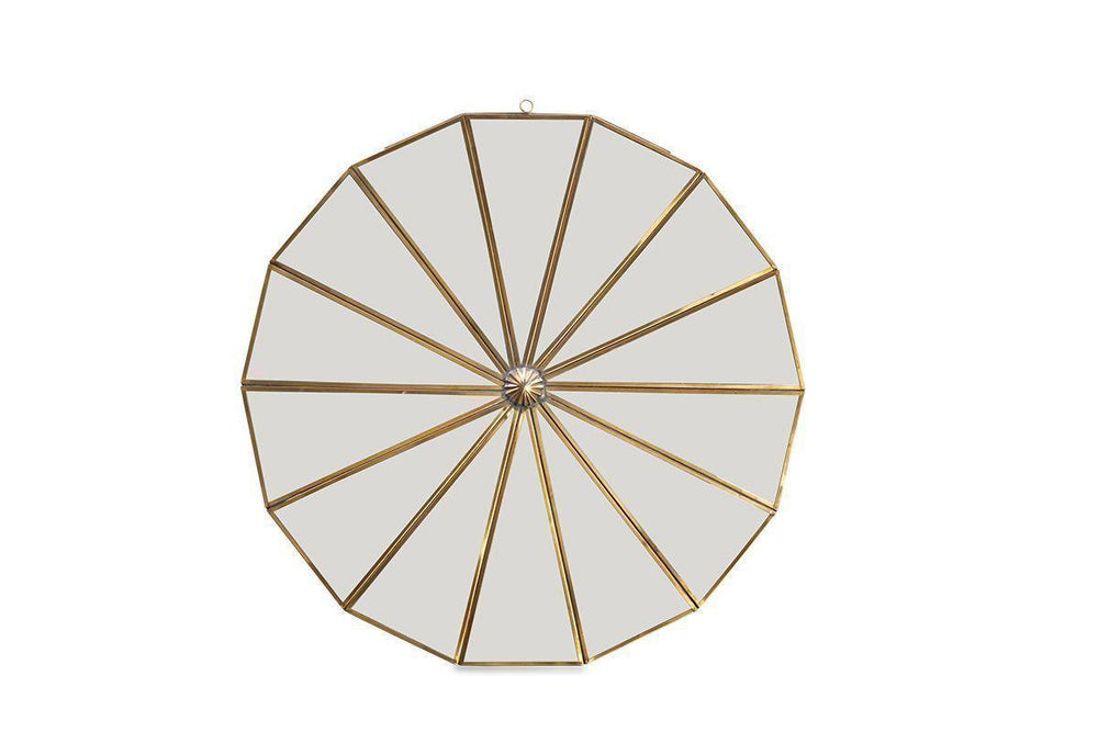 Copy of Kiki Decorative Mirror, Antique Brass, Big