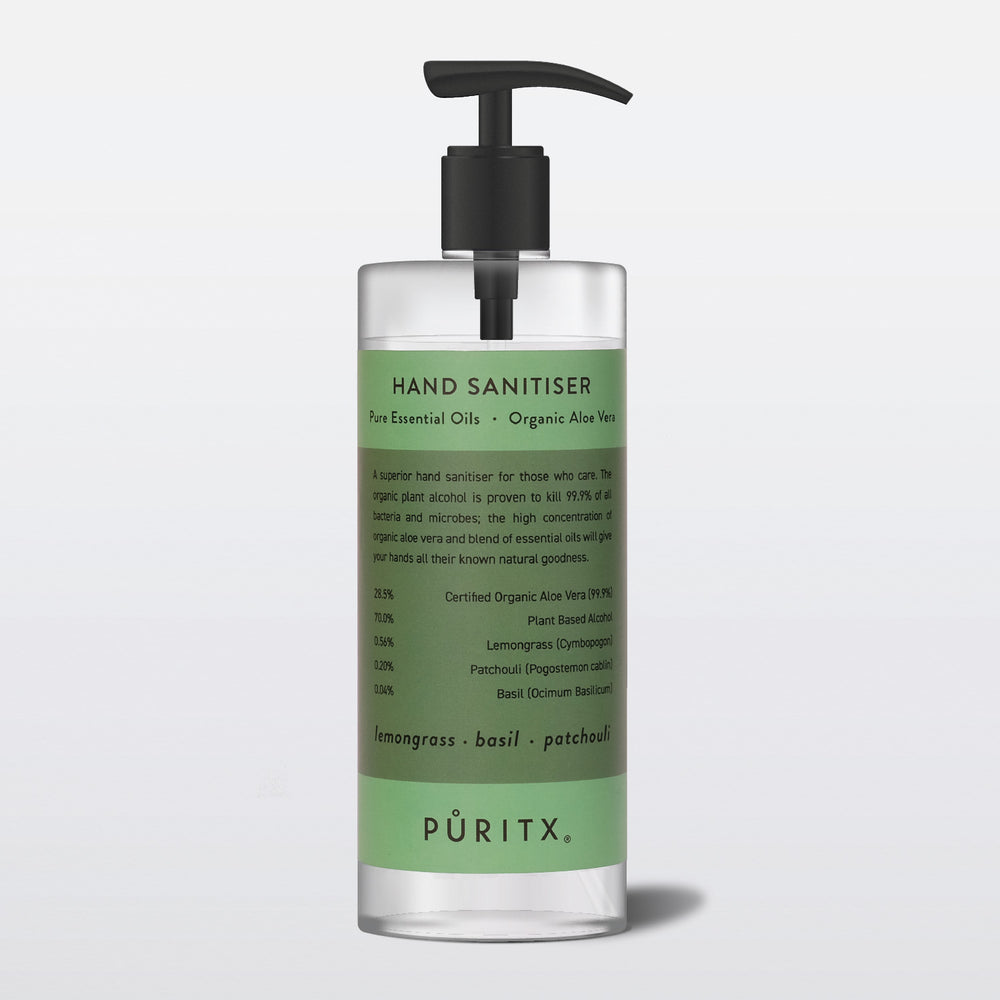 Hand Sanitiser with Lemongrass, Basil, Patchouli