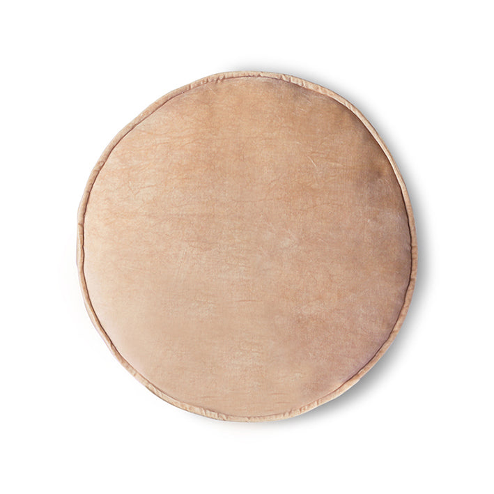Load image into Gallery viewer, Velvet seat cushion round peach (ø60)