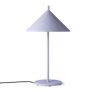 Load image into Gallery viewer, Metal triangle table lamp, lilac