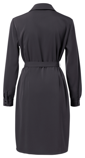 Load image into Gallery viewer, Belted Button up Midi Dress, Phantom