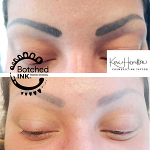Botched Ink saline tattoo removal online training course webinar salt and saline microblading permanent makeup eyebrow tattoo