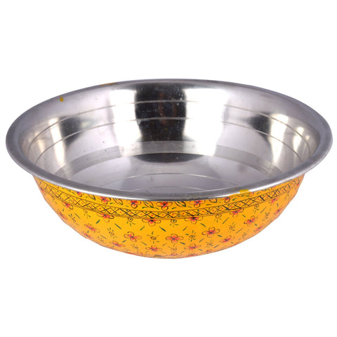 Kaushalam's handpainted serving bowl: Yellow