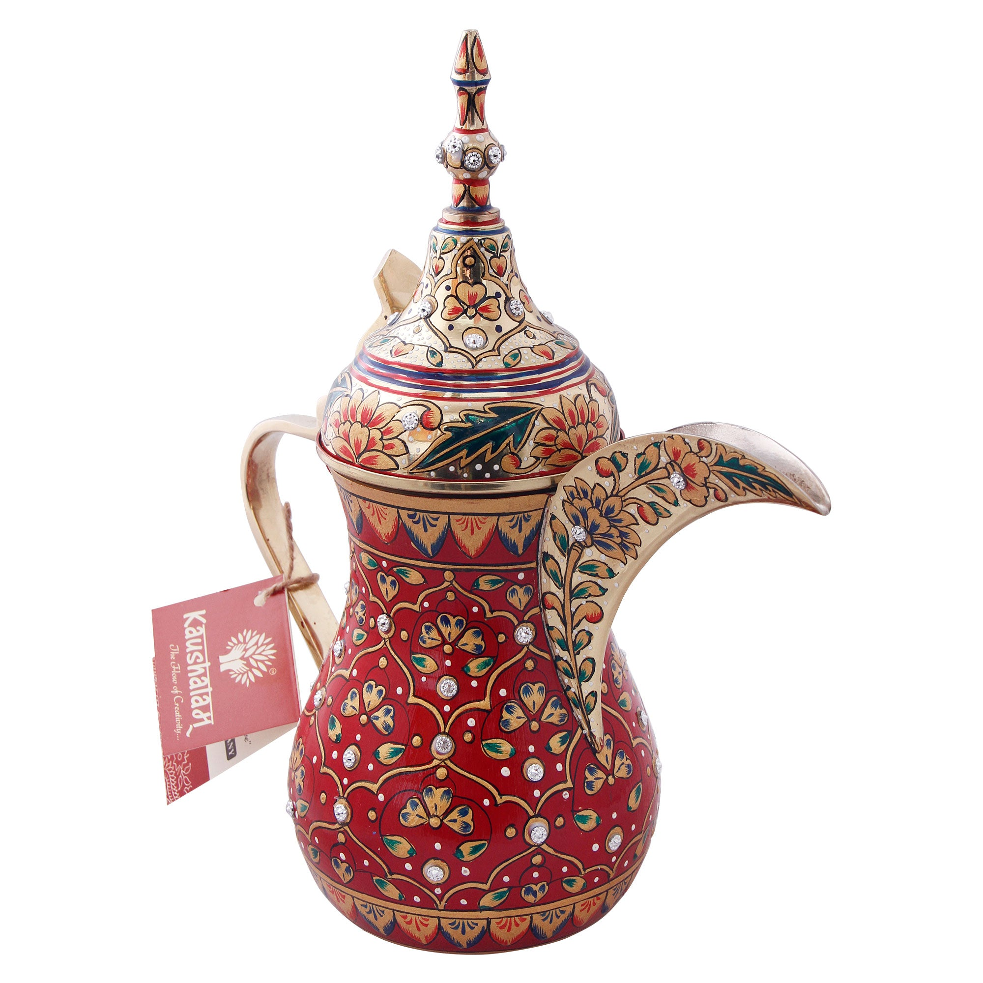 Arabic Dallah Brass Coffee pot- Majestic
