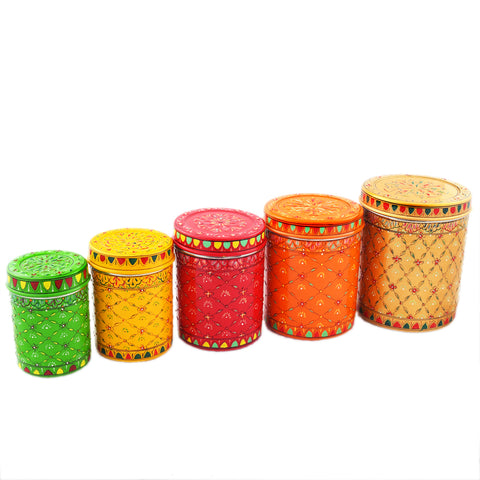 KAUSHALAM CANISTER SET OF 5