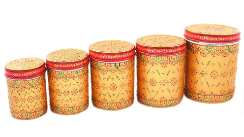 CANISTER SET OF 5 GOLDEN GLOW