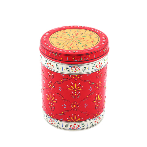 CANISTER SET OF 5 WHITE RED GOLD: ELEGANT