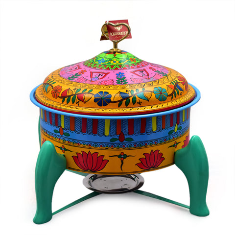 Hand Painted Chafer - Colorful Madhubani