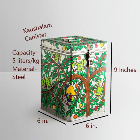 KAUSHALAM CANISTER: PARROTS
