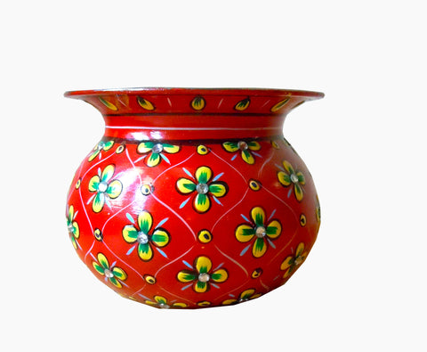 Crystal Kalash - Red, Vase,Sugar Pot