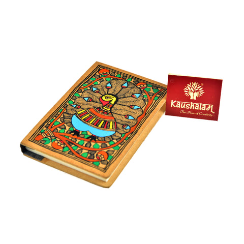 Hand Painted Diary – Peacock Dance